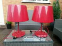 X2 table lamps
