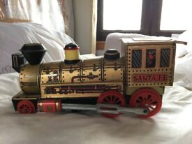 1960s Trademark Toys 'Santa Fe' Tin Train - Made in Japan