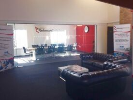 Serviced offices to let.