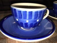 Whittard 2x cups and saucers