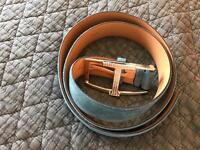 Brand new teal suede belt by Tods