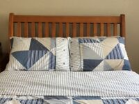 Wood sleigh double bed