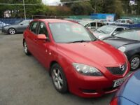 MAZDA 3 TS2 1598cc 5 DOOR HATCH 2005-05,RED, 99K FROM NEW,