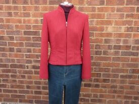Red Waist Length Jacket