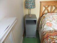 bedside cupboard shabby chic grey
