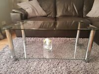 Glass Coffee Table & TV Unit