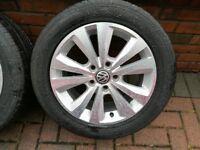 VW Golf Mark 7 Caddy OEM MK7 16 inch alloys with 205/55R16 tyres in Magherafelt £190