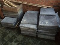 New/Unused Surplus Bradstone, Ashbourne Weathered Grey Patio Paving Slabs
