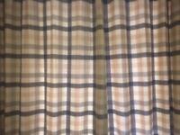 Laura Ashley Mitford Check Eyelet Curtains