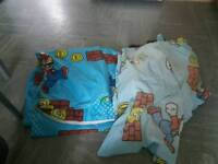 Mario curtains and single duvet cover