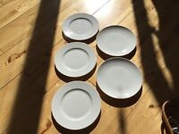 Beautiful white LSA side plates, 2 designs, 5 in total, all for £4