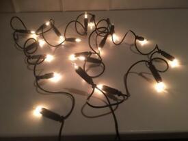20 Clear Bulb Christmas Lights.