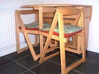Kitchen Table light pine foldaway