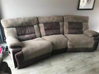 Large recliner sofa and armchair electric