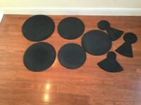 Drum Silencers/Practise Pads 8 Pieces