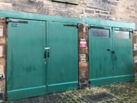 RARE 2x pairs Large original Victorian stable doors (in original building & with original fittings)