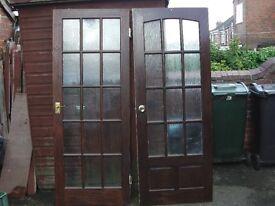 2 off internal wood doors