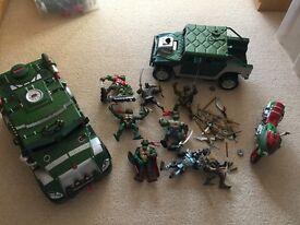 Teenage Mutant Ninja Turtles, figures and vehicles set