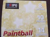 10 paint ball tickets for £15 each