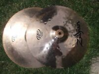 zildjian zbt hi hat cymbals 13 inch in good condition matched pair