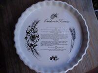 large Flan Dish-Quiche Lorraine!