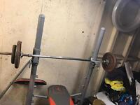 Weight training equipment and weights bargain.