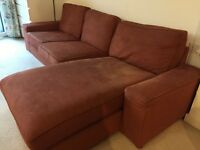 Excellent condition - IKEA Kivik Three-seat sofa and chaise longue