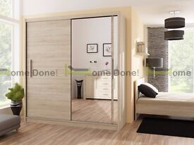 **14-DAY MONEY BACK GUARANTEE!**- Victor Luxury Sliding Door Wardrobe - SAME/NEXT DAY DELIVERY!