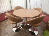 Palermo dining table large walnut and retro chairs