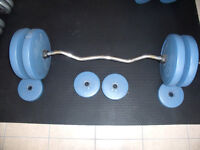 Curling Bar with weights