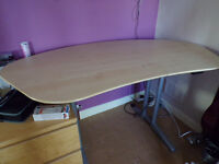 Height Adjustable Office Desk and Chair