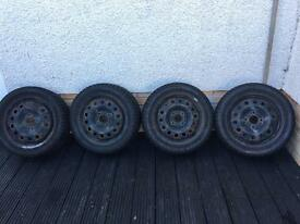 Ford Fiesta mk6 winter wheels & tyres 15""