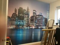 £60 PER FEATURE WALLPAPER FITTING. 24 HOUR CALL OUT SERVICE. FEATURE WALLS. PAINTER AND DECORATOR