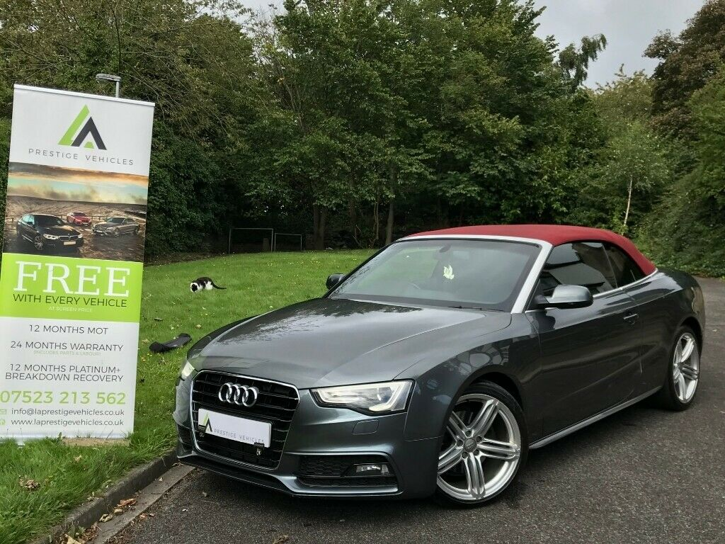 NEW SHAPE AUDI A5 2 0 TDI S LINE CABRIOLET FREE 2YRS WARRANTY FASH diesel  convertible a4 a6 320d +   in Bradford, West Yorkshire   Gumtree