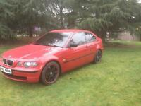 2002 BMW COMPACT 318TI FULL SERVICE HISTORY WOLFRACE ALLOYS IMOLA RED EXCELLENT CONDITION!