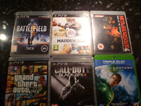 5 PS3 games and 1 blu-ray/