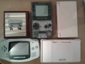 Nintendo game hand held consoles x5 all fully working
