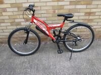 "Boy's/Girls Trax TFS24 Mountain bike - red. 24"" wheels. Excellent Condition"