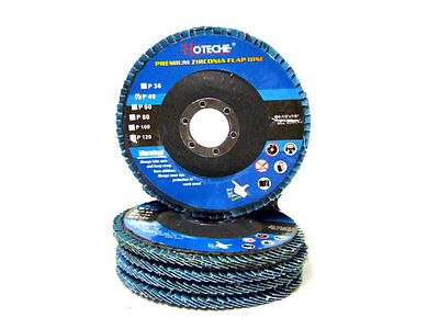 "100pc 4-1//2/"" x 7//8/"" 40 Grit Premium Zirconia Flap Disc Grinding Wheel Sandpaper"