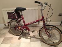 Retro vintage town bicycle