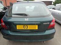 Breaking ----- Honda Civic Imagine CTDI 1.7L Diesel 99BHP --- 2003