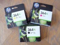 THREE HP364XL INK CARTRIDGES