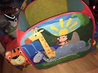 Colourful jungle play tent