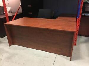 L-Shape in Summerflame - Office Desk