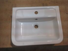 Ceramic utility or bathroom sink, 510mm x 400mm x 160mm deep
