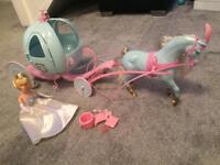 Disney Cinderella Doll with Horse & Carrige