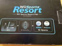 Wii console and fitness board