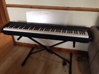 Yamaha P45 Digital Piano, Keyboard for sale, with piano stand and foot pedal.