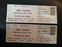 Two Janet Jackson Concert Tickets