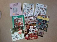 Christmas cross stitch books and leaflets
